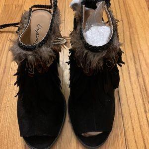 Open toe sexy shoes